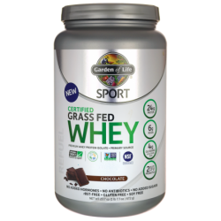 SPORT Certified Grass Fed Whey Protein  Chocolate, 23.7 oz (672 grams) Pwdr