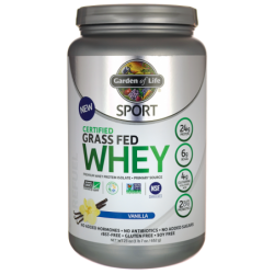 SPORT Certified Grass Fed Whey Protein  Vanilla, 23 oz (652 grams) Pwdr