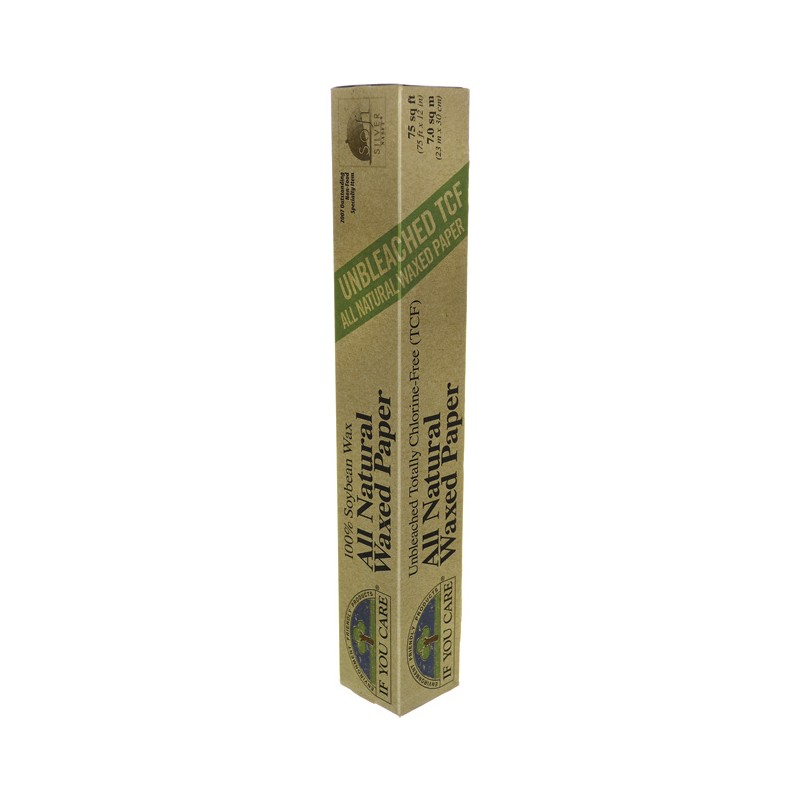 Unbleached All Natural Waxed Paper  75 sq ft, 1 Unit