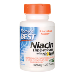 TimeRelease Niacin with NiaXtend, 500 mg 120 Tabs