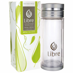 Libre Loose Leaf Tea Glass 143 oz, 1 Unit