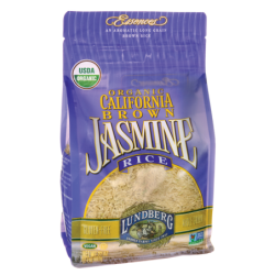 Organic California Brown Jasmine Rice, 2 lbs (907 grams) Bag(s)