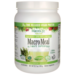 Macro Meal Vegan Ultimate Superfood  Vanilla, 21.7 oz (615 grams) Pwdr