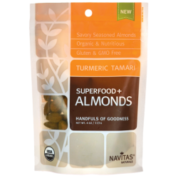 Superfood  Almonds  Turmeric Tamari, 4 oz (113 grams) Pkg
