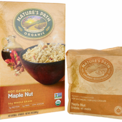 Organic Instant Hot Oatmeal Maple Nut, 8 Pkts