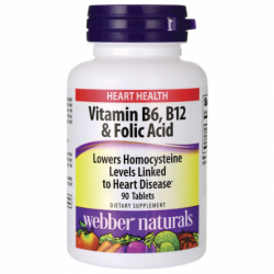 Vitamin B6, B12 & Folic Acid, 90 Tabs