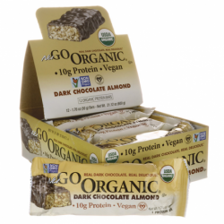 NuGo Organic Bars Dark Chocolate Almond, 12/1.76 oz Bar(s)