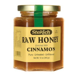 Raw Honey Cinnamon, 12 oz (340 grams) Jar