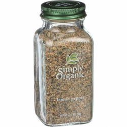 Lemon Pepper, 3.17 oz (90 grams) Jar