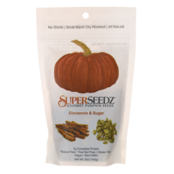 Gourmet Pumpkin Seeds  Cinnamon & Sugar, 5 oz (142 grams) Bag(s)