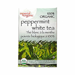 100 Organic Peppermint White Tea, 18 Bag(s)