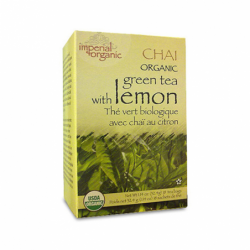 Organic Green Tea with Lemon Chai Tea, 18 Bag(s)