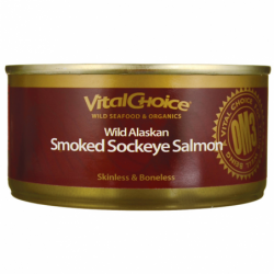 Wild Red Alaskan Smoked Sockeye Salmon, 5.5 oz Can