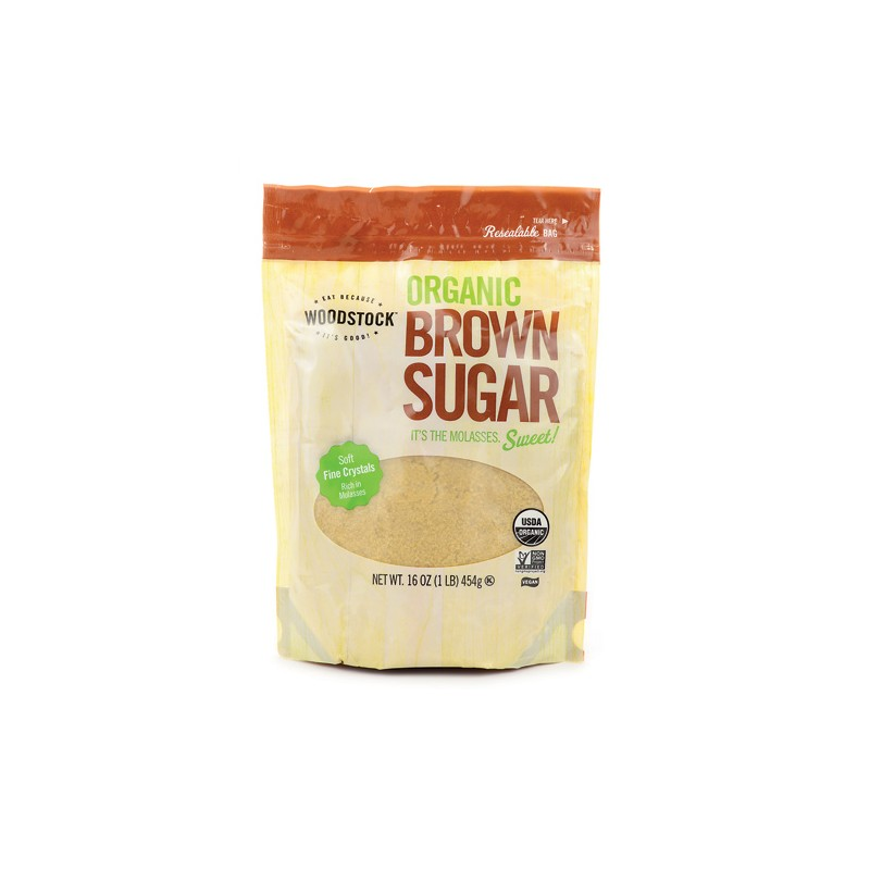 Organic Brown Sugar, 16 oz Pkg