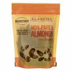 All Natural NonPareil Almonds Raw & Unsalted, 7.5 oz Pkg