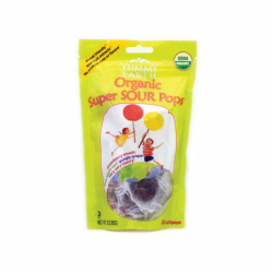 Organic Super Sour Lollipops, 15 Ct
