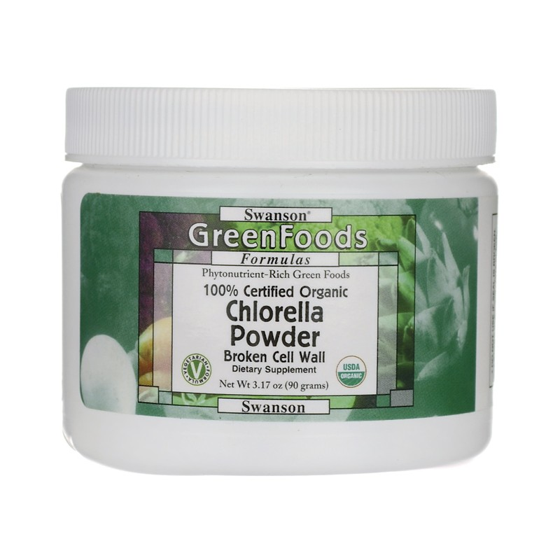 100 Certified Organic Chlorella Powder 3 17 Oz 90 Grams