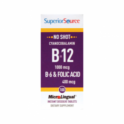 B12 Cyanocobalamin with B6 & Folic Acid, 1,000 mcg 100 Tabs