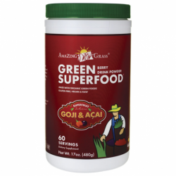 Green SuperFood Drink Powder  Berry, 17 oz (480 grams) Pwdr