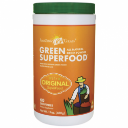 Green SuperFood All Natural Drink Powder, 17 oz (480 grams) Pwdr