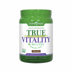 True Vitality Plant Protein Shake with DHA Chocolate, 25.2 oz Pwdr