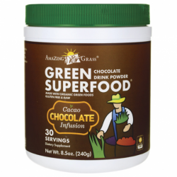 Green SuperFood Drink Powder  Cacao Chocolate Infusion, 8.5 oz (240 grams) Pwdr