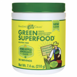 Green SuperFood  Pineapple Lemongrass Flavor, 7.4 oz (210 grams) Pwdr