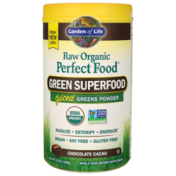 Raw Organic Perfect Food Green Superfood  Chocolate Cacao, 11.9 oz (338 grams) Pwdr