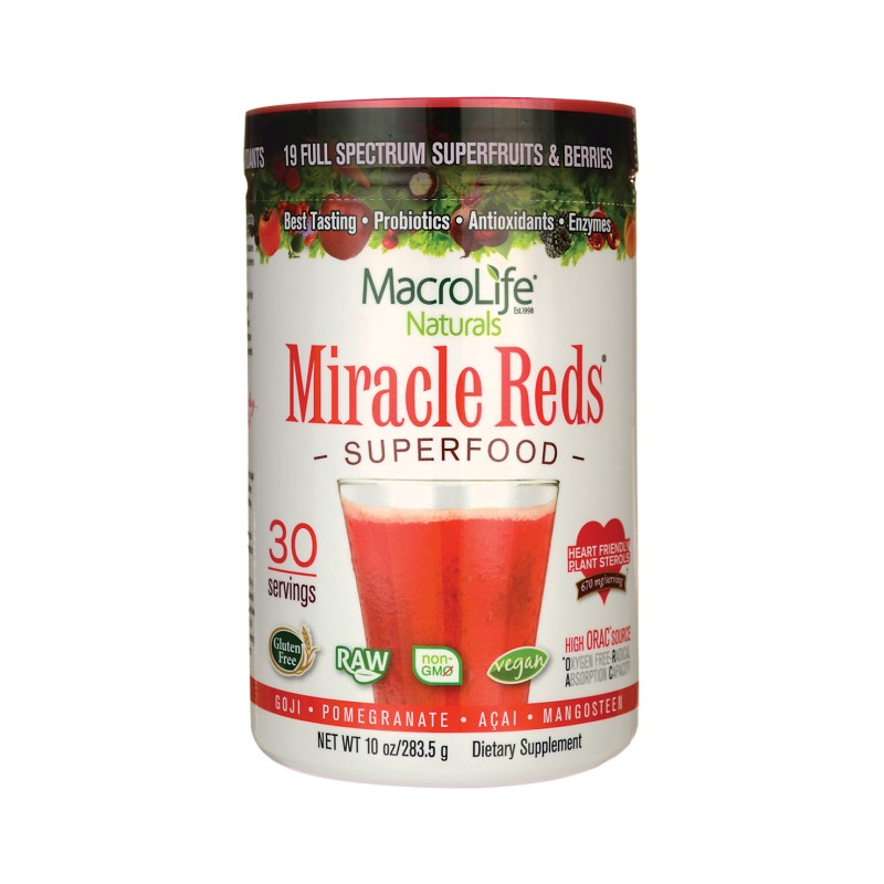 Miracle Reds Superfood, 10 oz (283.5 grams) Pwdr