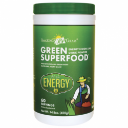 Green SuperFood High Energy Drink Powder  Lemon Lime, 14.8 oz (420 grams) Pwdr