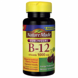 Sublingual B12  Cherry, 1,000 mcg 50 Lozenges