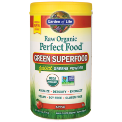 Raw Organic Perfect Food Green Superfood  Apple, 8.2 oz (234 grams) Pwdr