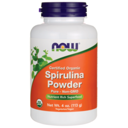 Certified Organic Spirulina Powder, 4 oz (113 grams) Pwdr