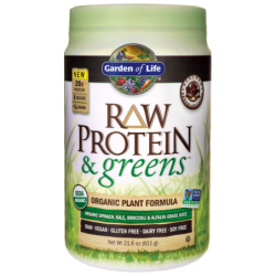 Raw Protein & Greens  Chocolate Cacao, 21.6 oz (611 grams) Pwdr