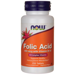 Folic Acid 800 mcg with Vitamin B12, 250 Tabs
