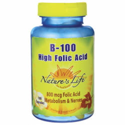 B100 High Folic Acid, 100 Caps