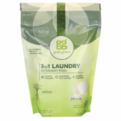 3in1 Laundry Detergent Pods  Vetiver, 24 Ct