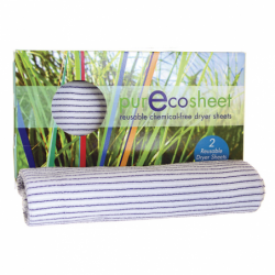 PurEcoSheet Reusable ChemicalFree Dryer Sheets, 2 Ct