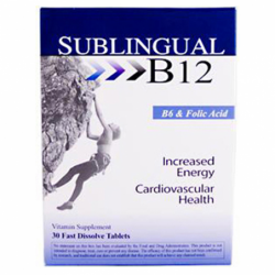 Sublingual B12 with B6 & Folic Acid, 30 Tabs