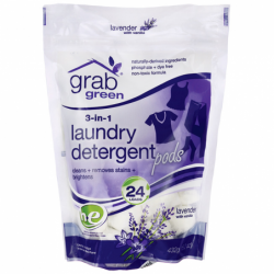 3in1 Laundry Detergent Pods  Lavender with Vanilla, 24 Ct