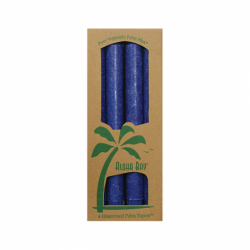 Palm Taper Candles 9 Inch Royal Blue, 4 Pack(s)