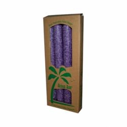 Unscented Palm Tapers  Violet, 4 Pack(s)