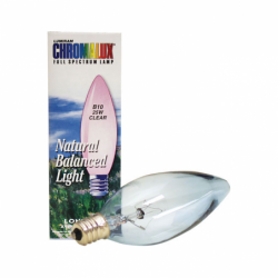 Clear Chandelier Bulb, 25 Watt 1 Unit