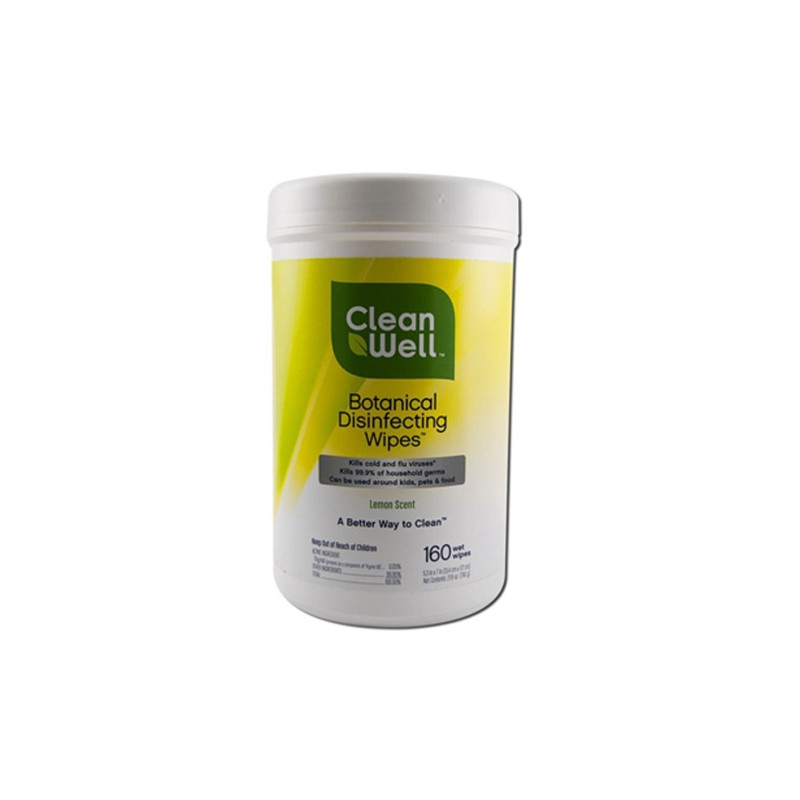 Botanical Disinfecting Wipes, 160 Wipes