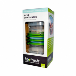1 Cup Containers with Removable Ice Packs, 4 Pack(s)