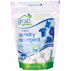 3in1 Laundry Detergent Pods  Fragrance Free, 24 Ct