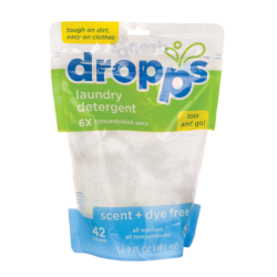 Laundry Dropps  Scent & Dye Free, 42 loads Ct