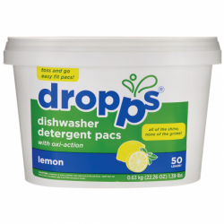 Dishwasher Detergent Pacs  Lemon, 50 Ct