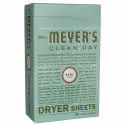 Clean Day Dryer Sheets  Basil, 80 Ct