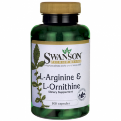 LArginine & LOrnithine, 500/250 mg 100 Caps